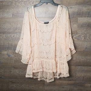 Beautiful sheer lace blouse